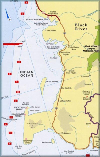 Mauritius Diving Log Book Maps